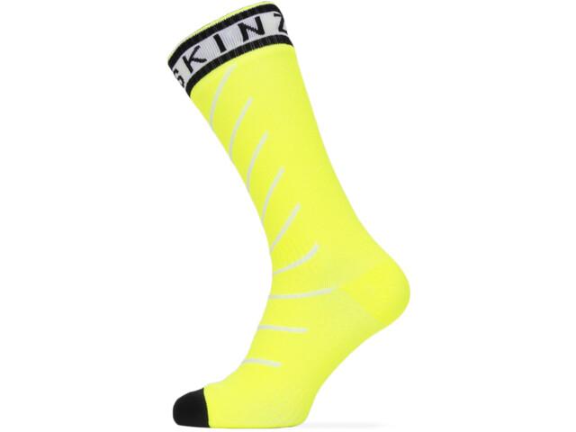 Sealskinz Waterproof Warm Weather Chaussettes mi-hautes avec Hydrostop, neon yellow/black/white